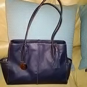 Regal Navy Leather Borsela by Hobo